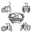set of tractors vector image vector image