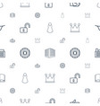 shape icons pattern seamless white background vector image vector image