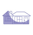 silhouette big house with roof and windows with vector image vector image