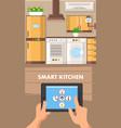 smart kitchen flat design vector image vector image