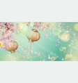 spring festival background vector image vector image