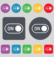 start icon sign A set of 12 colored buttons Flat vector image vector image