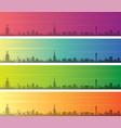 stockholm multiple color gradient skyline banner vector image vector image