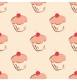 Tile sweet cake pattern or background vector image vector image