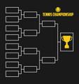 tournament bracket tennis championship vector image vector image