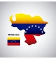 venezuela country design vector image