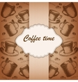 Vintage frame with hand-drawing sketch coffee vector image vector image