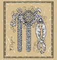 virgo or virgin zodiac sign on frame on texture vector image vector image