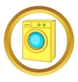 Washing machine icon vector image vector image
