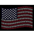 waving united states flag stylization of cow head vector image vector image