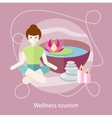 Wellness Tourism Woman in a Beauty and Spa Salon vector image