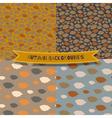Set of 4 seamless autumn patterns vector image