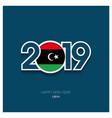 2019 libya typography happy new year background vector image vector image