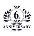 6th anniversary logo 6 years celebration