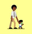 african american boy vector image vector image