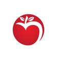 apple logo icon vector image