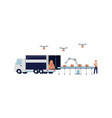 automatic logistic system storage and delivery vector image vector image