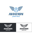 aviation logo design four vector image
