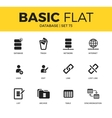 Basic set of Database icons vector image vector image