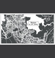 batam indonesia city map in retro style outline vector image vector image