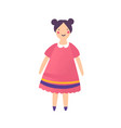 beautiful doll in red dress flat vector image