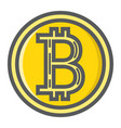 bitcoin coin filled outline icon business finance vector image vector image