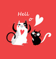 celebratory card with enamored cats vector image vector image