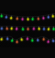 christmas glowing lights vector image vector image