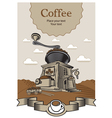 Coffee castle vector image