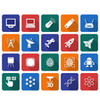 collection of rounded square icons high technology vector image vector image