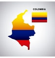 colombia country design vector image