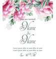 colorful peony flowers watercolor banner vector image vector image