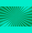 comic green explosive background vector image vector image