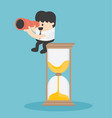 concept businessmen time vector image vector image