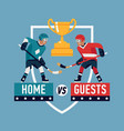 cool flat design ice hockey themed banner vector image