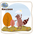 cute squirrel on a background of a landscape with vector image