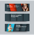 design of horizontal web banners in the style of vector image vector image
