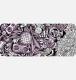 disco music hand drawn doodle banner cartoon vector image vector image