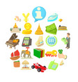 dismal science icons set cartoon style vector image vector image