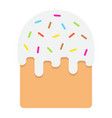 easter cake flat icon easter and holiday vector image vector image
