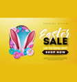 easter sale with spring flower and vector image