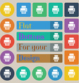 fax printer icon sign Set of twenty colored flat vector image