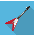 flat guitar 3 vector image vector image