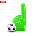 Football Sports Fan Foam Fingers and ball vector image