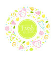 fresh juice banner template poster card tropical vector image vector image