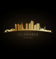 golden logo islamabad skyline silhouette vector image vector image