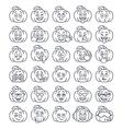 halloween pumpkin thin line emoji emoticons vector image