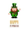 Happy leprechaun waving hand Saint Patricks Day vector image vector image