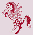 horse ornament vector image vector image