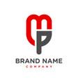 initial logo mp vector image